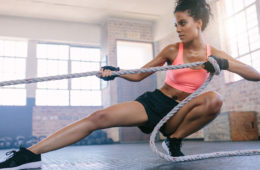 woman , exercise, rope