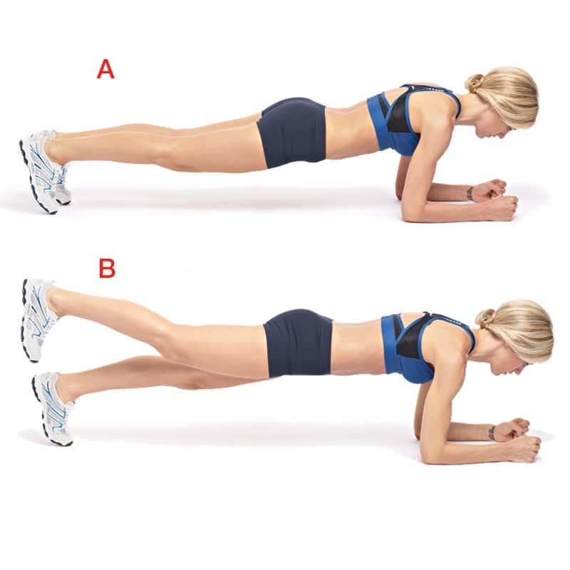 one leg plank woman