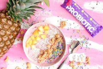 pineapple, bowl, probiotics