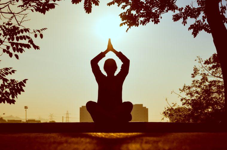 woman, yoga pose
