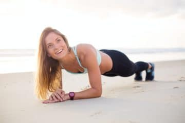 woman plank exercise