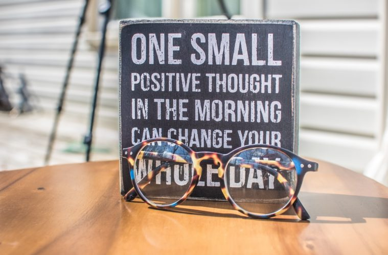 glasses and quote