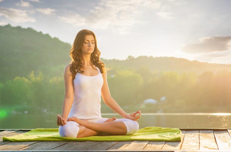 yoga meditation women