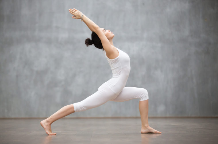 women yoga pose