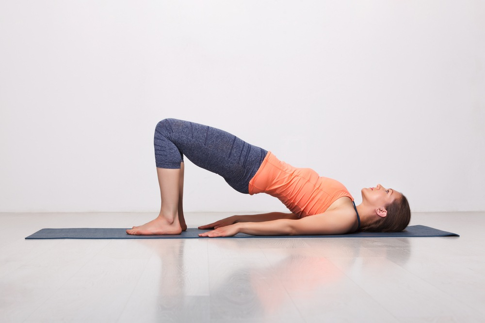 woman bridge pose