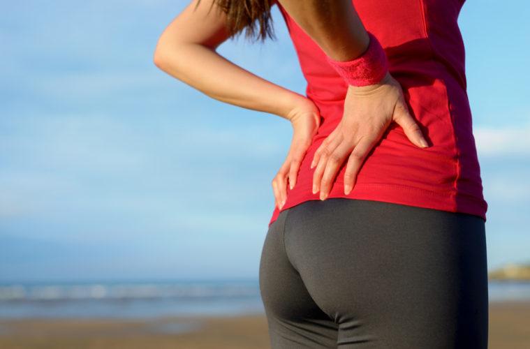 woman lower back